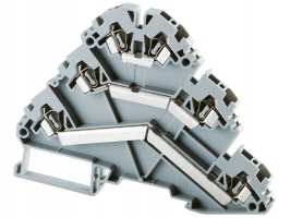 Angular Triple Level Spring Clamp Terminals