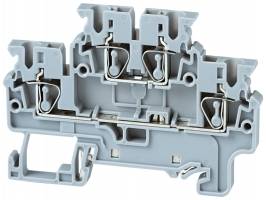 Double Level Spring Clamp Terminals